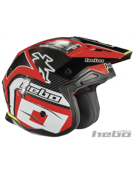 CASQUE ZONE 4 CARBONE POL ROUGE