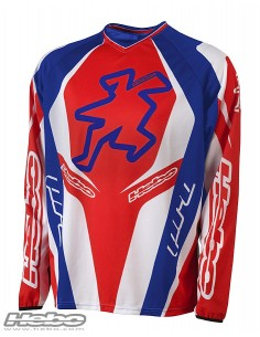 maillot trial PRO 15 BLEU/ROUGE